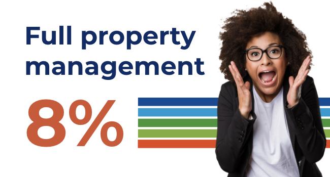 Full property management 8%